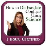 How to De-escalate Conflicts Using Science Online Course